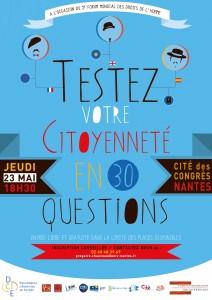 Testez votre citoyenneté en 30 questions – 23 mai – 18h30 Cité des Congrès